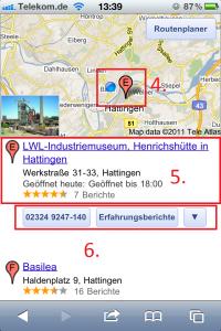 Suchergebnis Google Places Mobil