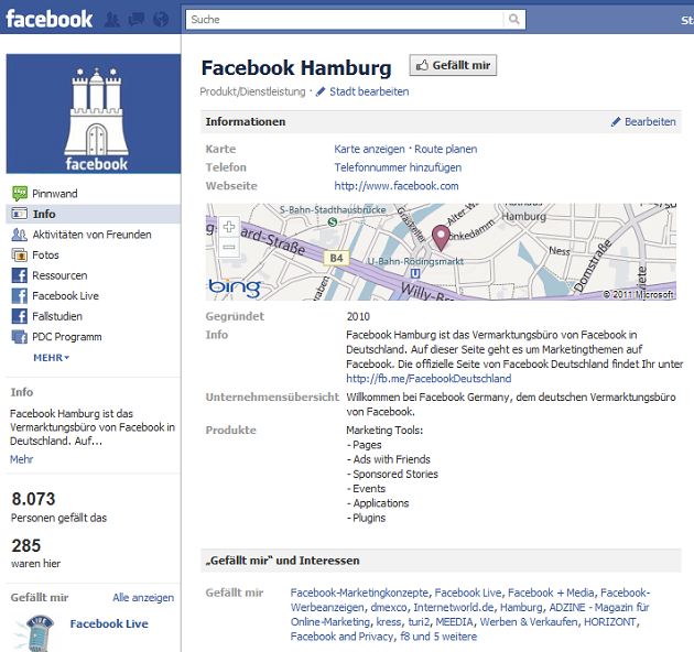 Facebook-places-fan-site