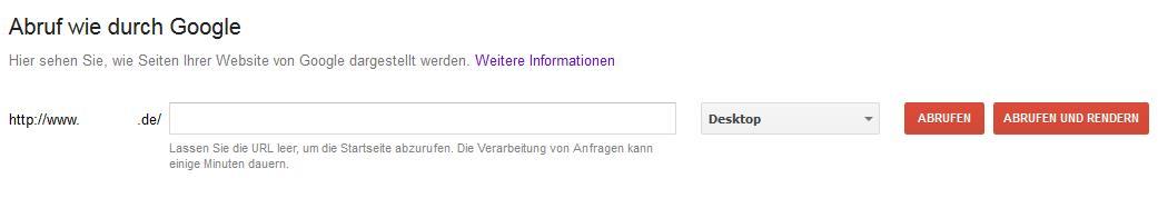 Seiten an den Google Index senden