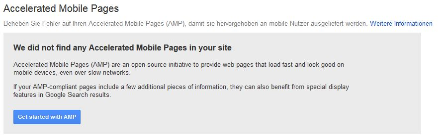 AMP Pages in der Google Search Console