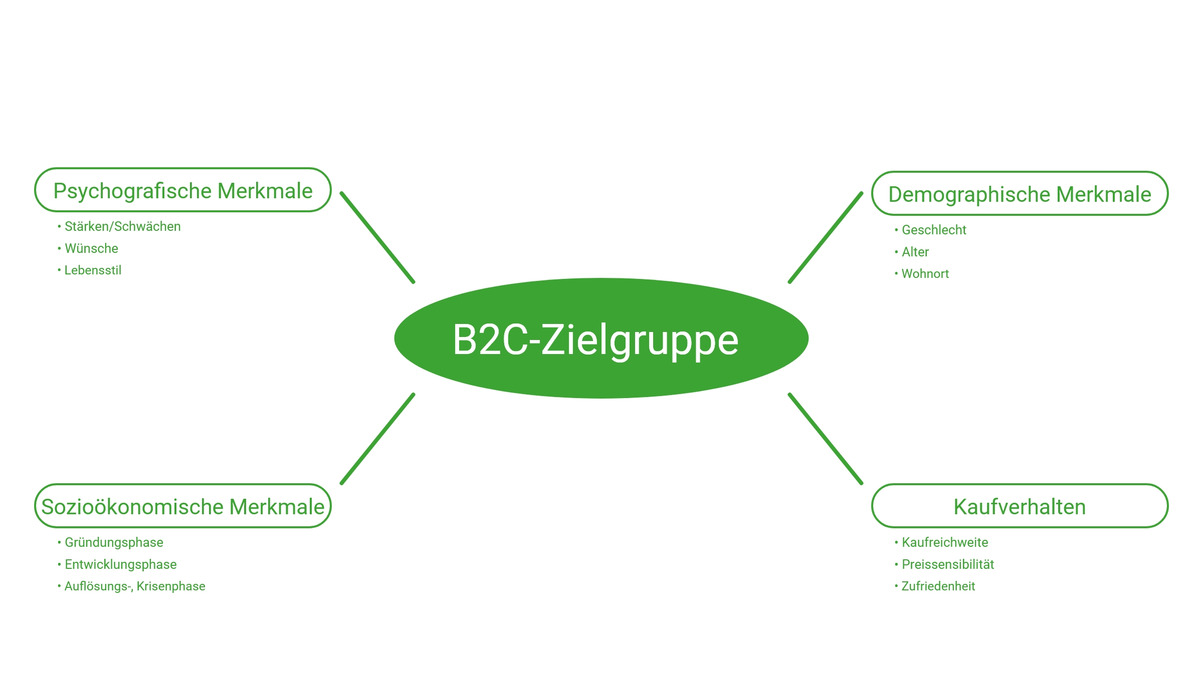 Visualisierung B2C-Zielgruppe