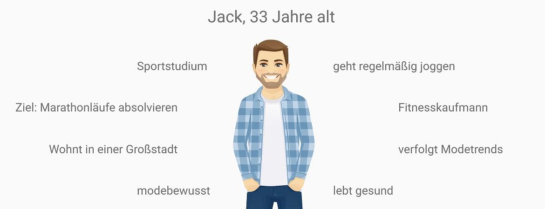 Jack ist 33 jahre alt