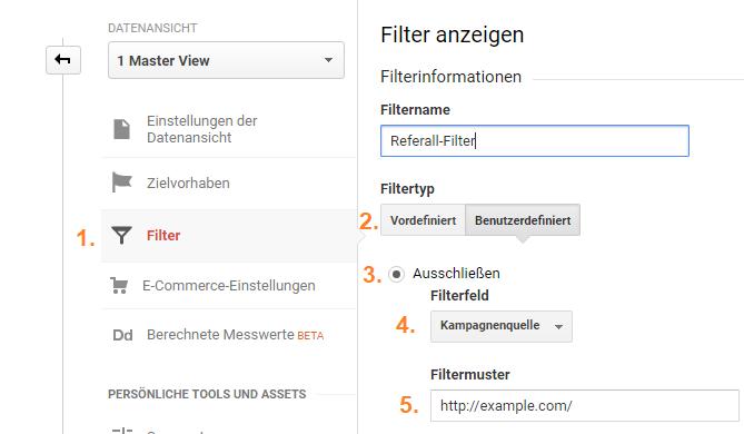 Filter für eingene Domain in Google Analytics einrichten