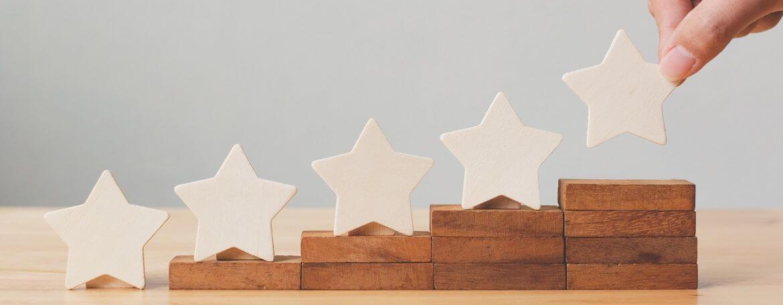beste Bewertungen liefern 5 Sterne im Empfehlungsmarketing