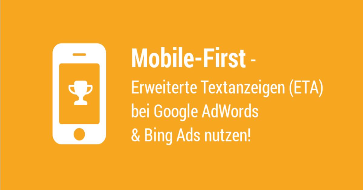 Stellen Sie auf ETA bei Adwords und Bing Ads um