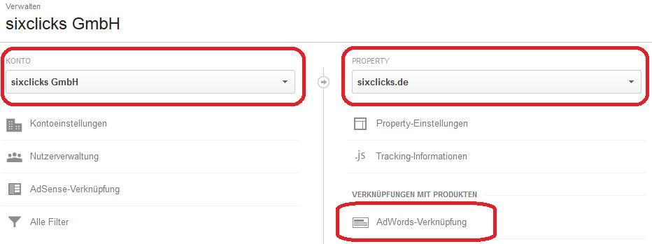 Google Analytics und Google AdWords verknüpfen