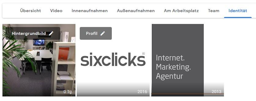 Bilder-Übersicht im Google My Business Dashboard