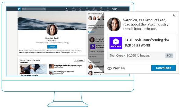 Ausschnitt einer Content Ad von LinkedIn offizieller Homepage