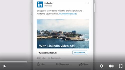 Video von LinkedIn zur Verwendung von Video Ads