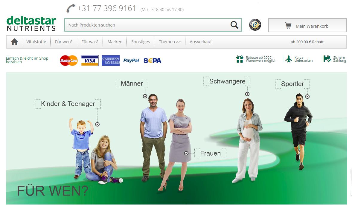 Magento Community Edition Screenshot deltastar.nl