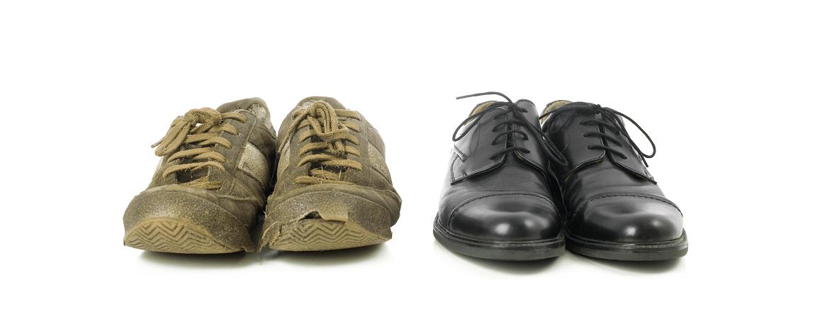 Vergleich Vorher Nacher durch Produktrelaunch am Beispiel von Schuhen