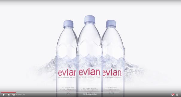 Produktrelaunches von Evian