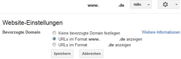 Domain als Standard defnieren