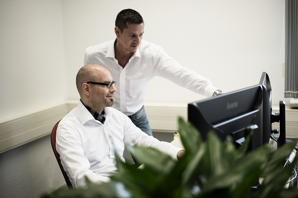 Unsere Berater Stefan Herrmann und Sven Synowietz