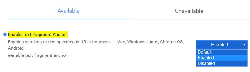 So aktivieren Sie den Text Fragment Anchor in Chrome Flags