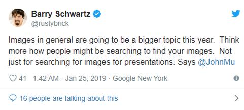 tweet von barry schwarzt zur Relevanz der google bidlersuche
