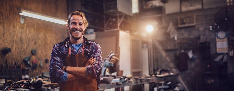 Unternehmer als Kopfgrafik zu einer Über Uns Seite