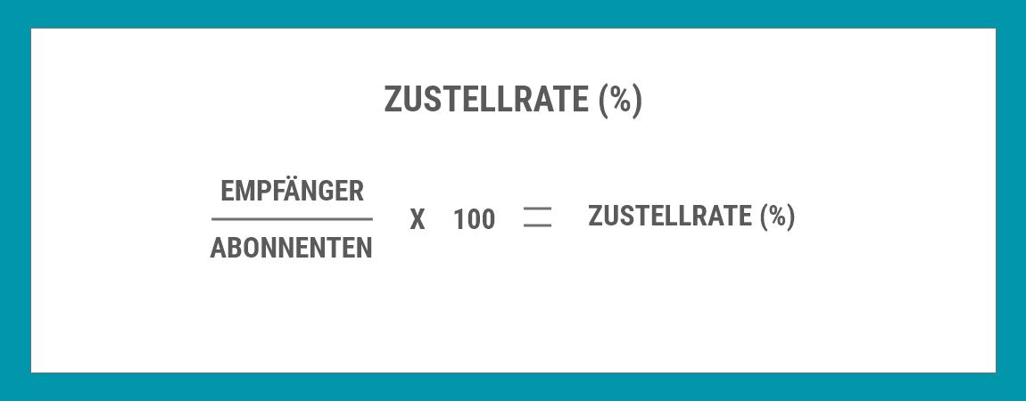 Formel zur Berechnung der Zustellrate E-Mail-Marketing